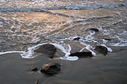 Seawall Prints - Shoreline Print by Robert Anschutz