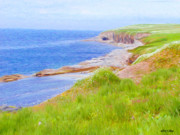 Seas Digital Art - Shores of Newfoundland by Jeff Kolker