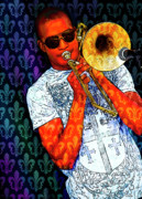 Trombone Prints - Shorty Print by Tammy Wetzel