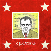 Russia Drawings - Shostakovich by Paul Helm