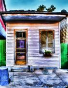 French Door Digital Art Prints - Shotgun House Number 3 Print by Tammy Wetzel