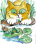 Pictures Of Cats Prints - Should I Print by Ellen Miffitt