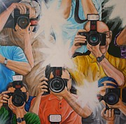 Camera Paintings - Show em Your Good Side by Jennifer Lynch