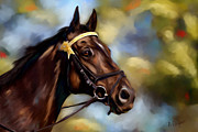 Pets Digital Art - Show Horse Painting by Michelle Wrighton