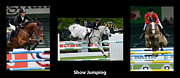 Show Jumping Prints - Show Jumping With Caption Print by Bob Christopher