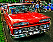 Paint Photograph Prints - Show Red Pickup Print by Perry Webster