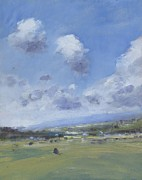 Shower Clouds Over The Yar Valley Print by Alan Daysh