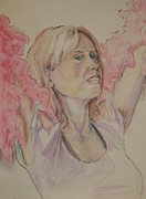 Action Drawings - Showgirl by Cynthia Kinsley Miller