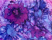 Alcohol Ink Prints - Showing Off Print by Christine Crawford