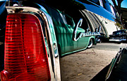 Ford Lowrider Prints - ShowLow and Tribe in the Mirror Print by Michael Kerckaert
