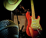 Microphone Metal Prints - Shows Over Metal Print by Robert Frederick