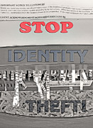 Personal Mixed Media Posters - Shred Your Identity 2 Poster by Steve Ohlsen