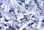 Paperwork Prints - Shredded paper Print by Blink Images