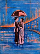 India Painting Framed Prints - Shree 420 Framed Print by Usha Shantharam