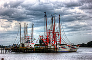 Jacksonville Art Framed Prints - Shrimp Boat Dock Framed Print by Barry Jones
