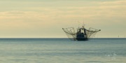 Gulf Of Mexico - Shrimp Boat Mississippi River Delta Louisiana by Paul Gaj