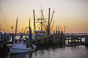 Shrimp Boats Port Royal Print by David Waldrop