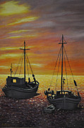 Shrimp Boat Paintings - Shrimp Season by Eunice Parker