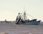 Shrimp Boat Art - Shrimping Season - Digital Art by Al Powell Photography USA