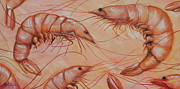 Crawfish Art - Shrimps by Patricia DeHart