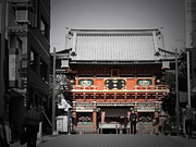 City Streets Photos - Shrine in Tokyo by Irina  March