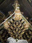 Japan Photo Framed Prints - Shrine Roof Detail Framed Print by Irina  March