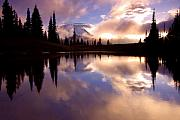 Mt. Rainier Photos - Shrouded in Clouds by Mike  Dawson