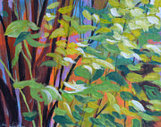 Foliage Paintings - Shrubbery by Melody Cleary
