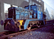 Johnny Trippick Prints - Shunting Loco Print by Johnny Trippick