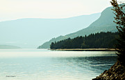 Lakescape Tapestries Textiles - Shuswap Lake in Beautiful British Columbia by Jayne Logan Intveld