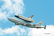 Enterprise Photo Posters - Shuttle Enterprise Comes to NY Poster by Regina Geoghan