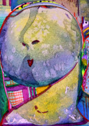 Nose Mixed Media - Shy Gal by Mindy Newman
