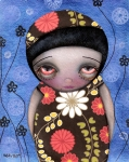 Abril Prints - Shy Girl Print by  Abril Andrade Griffith