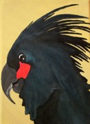 Parrot Print Paintings - Shyness by Una  Miller