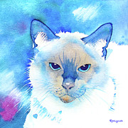 Siamese Paintings - Siamese  Eyes by Jo Lynch
