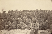 1880s Candid Framed Prints - Siberia, A Group Of Hard-labor Framed Print by Everett