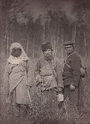 1880s Framed Prints - Siberia, Three Escaped Convicts Framed Print by Everett