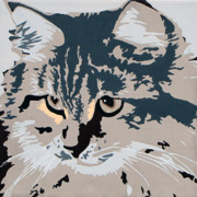 Cat Portraits Prints - Siberian Cat Print by Slade Roberts