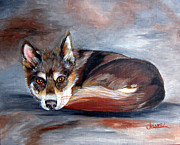 Siberian Husky Paintings - Siberian Husky by Chrissie Leander