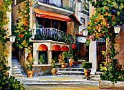 Sicily Painting Metal Prints - Sicily - Spring Morning Metal Print by Leonid Afremov