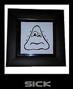 Emoticon Framed Prints - Sick Framed Print by Sirajudeen Kamal Batcha
