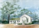 Sicklerville 1859 Church  Print by Nancy Patterson