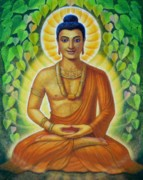 Meditation Paintings - Siddhartha by Sue Halstenberg