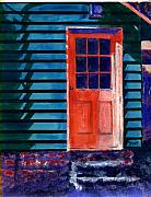 Building Painting Originals - Side Door by Marsha Elliott