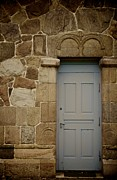 Wall Stone Wall Prints - Side Door Print by Odd Jeppesen