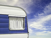 Road Trips Prints - Side of RV Print by Jacobs Stock Photography