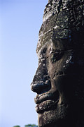 Angkor Thom Prints - Side Profile Of Of The Face Print by Gina Martin