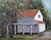 Street Pastels Originals - Side Street Shed by Joyce A Guariglia