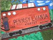 By Jeff Koss Paintings - Side Tracked in Pa.  by Jeffrey Koss