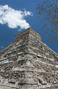 Ancient Civilization Metal Prints - Side View Of Chichen Itza Pyramid Metal Print by L. Bressand